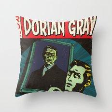 Oscar Wilde's Dorian Gray: Vintage Comic Cover Throw Pillow