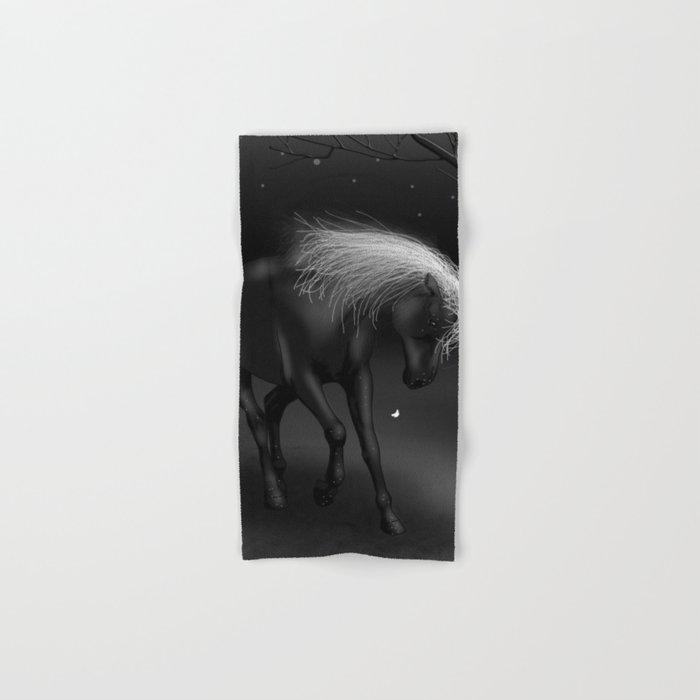 Black Horse Hand & Bath Towel