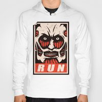 run Hoodies featuring Run by le.duc