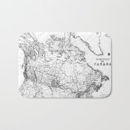 Vintage Map of Canada (1898) BW Bath Mat