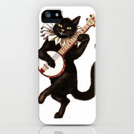 Cute Vintage Dancing Cat iPhone Case