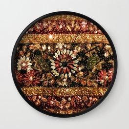 Beaded Indian Saree Photo Wall Clock