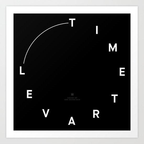 Timetravel Wall Clock Art Print