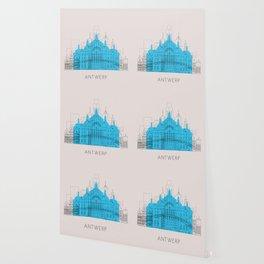 Antwerp Landmarks Poster Wallpaper