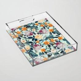 Rose Garden Acrylic Tray