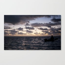Kayak on the Water Canvas Print