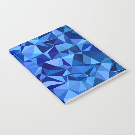 Blue tile mosaic Notebook