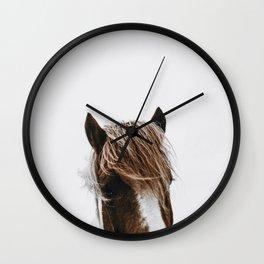 Wild Horse II / Iceland Wall Clock