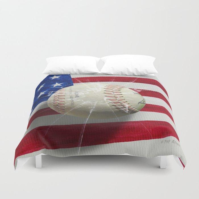 Baseball New York New York Duvet Cover By Popalien Society6