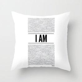 I AM ( Identity series)  Throw Pillow