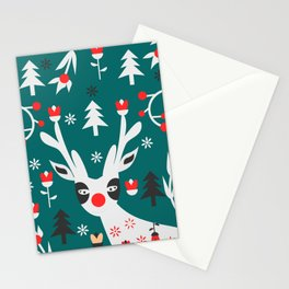 Merry Christmas reindeer Stationery Cards