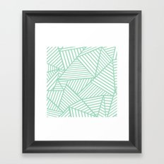 Abstract Lines Close Up Mint Framed Art Print