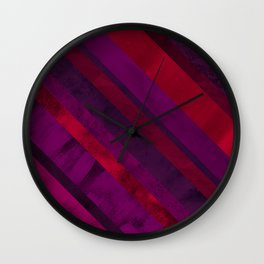 Mixed lines with purple and pink tones Wall Clock