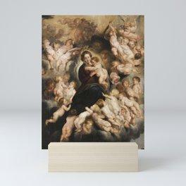 Peter Paul Rubens, Mary with Angel Wreath Mini Art Print