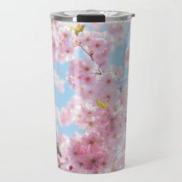 Pink Cherry Blossom Tree Travel Mug
