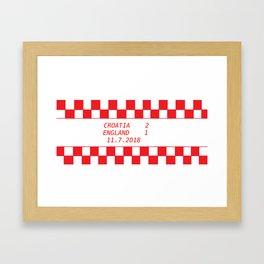 Croatia vs. England Framed Art Print