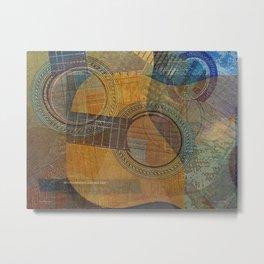 Guitar Family Singing Abstract Metal Print