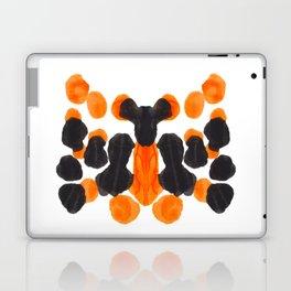 Black & Orange Ink Blot Pattern Laptop & iPad Skin