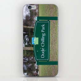 Dude Chilling Park iPhone Skin