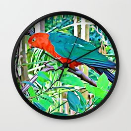 King Parrot Wall Clock