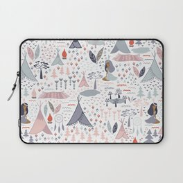 Native american inspired pattern pastel colors Laptop Sleeve