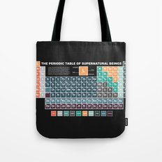 Periodic Table of Supernatural Beings Tote Bag