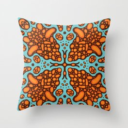 Colorful tile IV inspired by portuguese tiles Throw Pillow