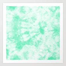 Tie Dye 3 Mint Art Print