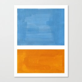 Rothko Minimalist Abstract Mid Century Color Black Square Periwinkle Yellow Ochre Canvas Print