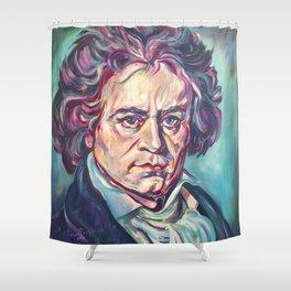 Ludwig van Beethoven, Beethoven's portrait, composer, art print, Shower Curtain