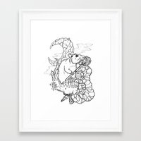 rat Framed Art Prints featuring Rat by Ruff Worlock