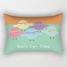 Birds Gym Class Rectangular Pillow