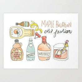 Maple Bourbon Old Fasion Art Print