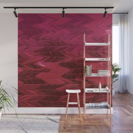 Red Faded Chevron Wall Mural