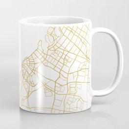 DUBAI UNITED ARAB EMIRATES CITY STREET MAP ART Coffee Mug