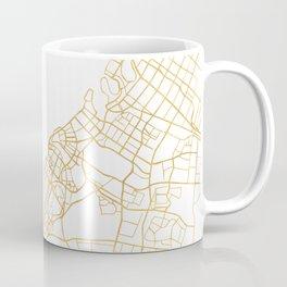 DUBAI UNITED ARAB EMIRATES CITY STREET MAP ART Coffee Mug