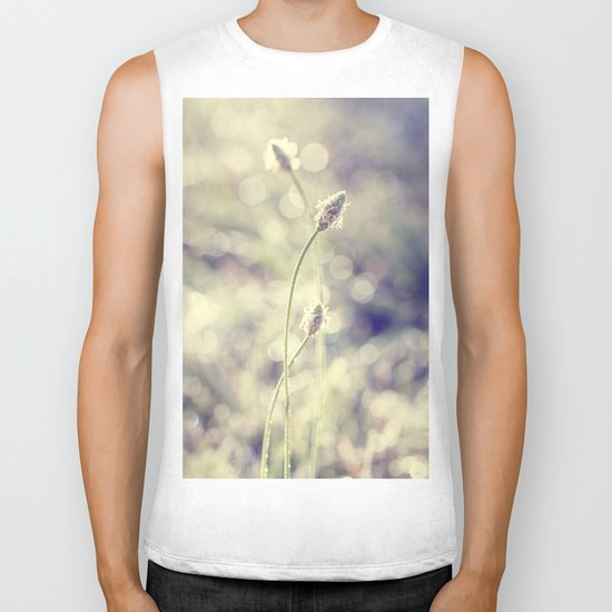 morning weeds Biker Tank