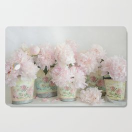 Shabby Chic Dreamy Pastel Peonies Floral Home Decor Cutting Board