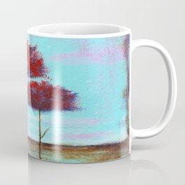 Cherished, Landscape Skinny Red Trees Coffee Mug