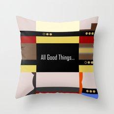 TNG - All Good Things - Minimalist Star Trek TNG The Next Generation 1701 D  startrek  Trektangles Throw Pillow