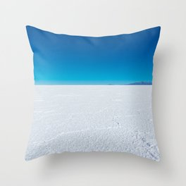Salt Flats, Salar de Uyuni, Bolivia Throw Pillow