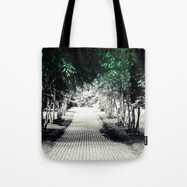 Where does the path lead? Tote Bag