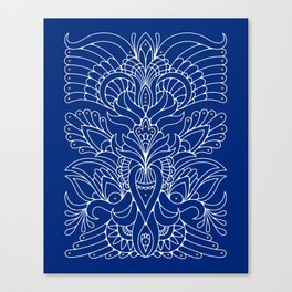 Blue ornaments Canvas Print