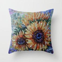 Ah, Sunflower by Lena Owens Throw Pillow