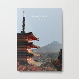 Fujiyoshida, Japan Travel Artwork Metal Print