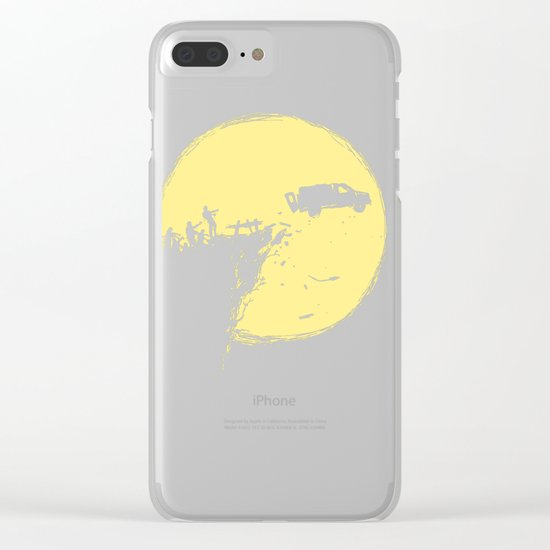 Zombie Invasion Clear iPhone Case