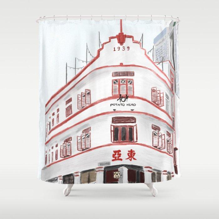 36 Keong Saik Road Chinatown Singapore Shower Curtain