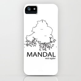 map of mandal iPhone Case