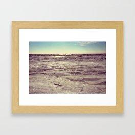 Winter on Lake Erie Framed Art Print