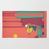surf Area & Throw Rugs featuring SURF by Ale Giorgini